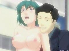 Hentai video. Tsuukin Kairaku Chikan de GO!