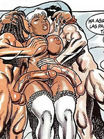 Uniqe porn comics with hard cock in tight pussy