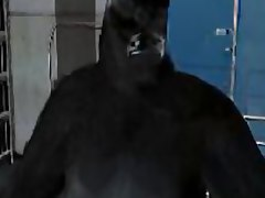 Gorilla-Man and genetic monsters fuck busty Catgirl. 3D Video