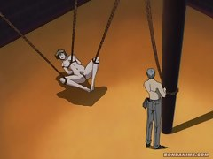 Dirty anime hooker is helpless as she's whipped and fucked to her masters content