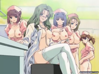 Hentai nurses gets tied up, gagged and fucked